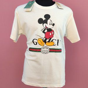 Gucci Disney White Color Mickey Mouse T-Shirt